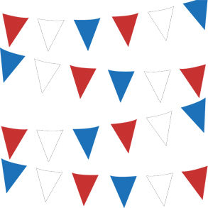120' Outdoor Patriotic Pennant Banner