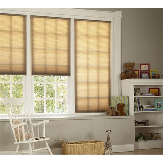 DEZ Furnishing QCLN260720 Cordless Cellular Light Filtering Shade, Linen - 26 W x 72 L inch