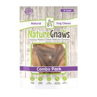 "Nature Gnaws Large Bully Sticks 5-6"", 10 Count"