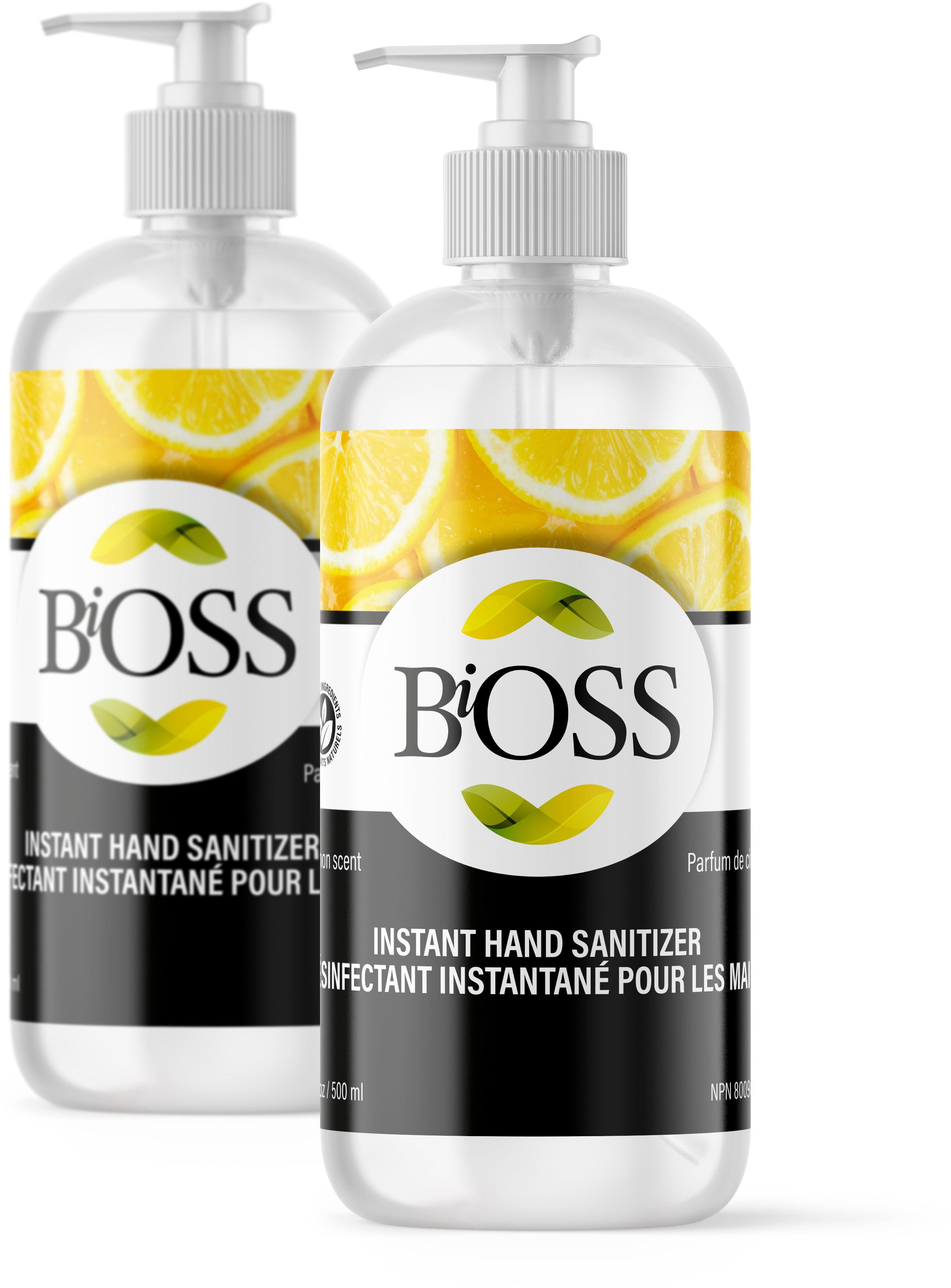 2 Pack Instant Hand Sanitizer 75 Ethyl Alcohol Food Grade Lemon Fragrance With Pump Bottle Skin Friendly Manufactured In Canada Walmart Canada