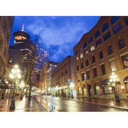 Water Street at Night, Gastown, Vancouver, British Columbia, Canada, North America Print Wall Art By Christian Kober - Halloween North Vancouver