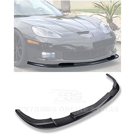 Extreme Online Store for 2005-2013 Chevrolet Corvette C6 Wide Body Models | EOS ZR1 Style ABS Plastic Primer Black Front Bumper Lower Lip Splitter (Adult Online Stores)
