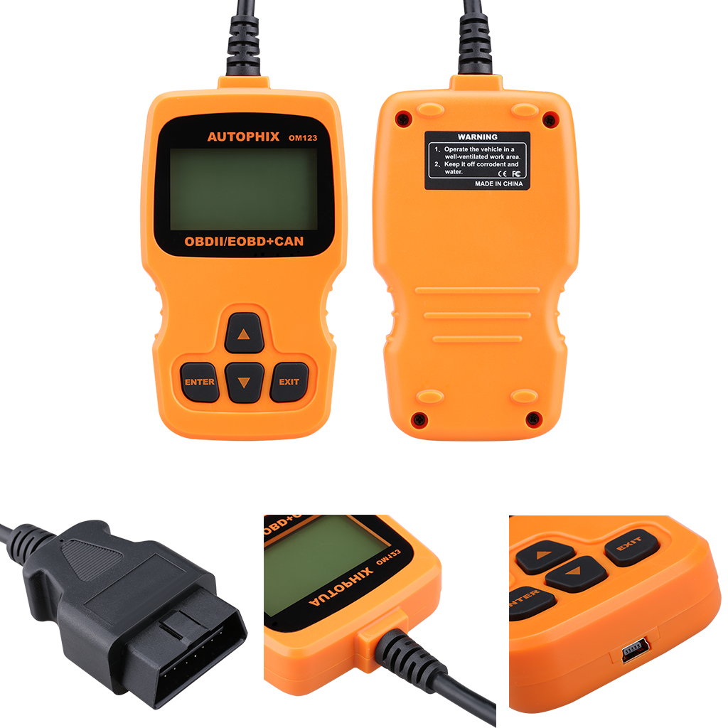 Engine Code Reader Auto Car Vehicle Diagnostic Scan Tool Hyper Tough OM123  Hand-held CAN OBD2ⅡEOBD Diagnostic Code Reader