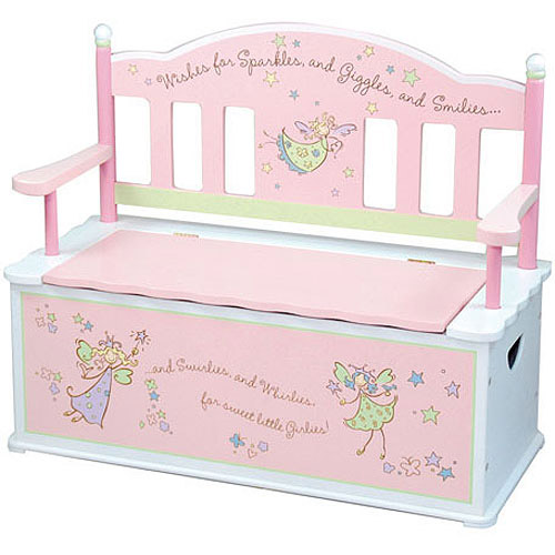Levels of Discovery Fairy Wishes Bench Seat with Storage by Generic