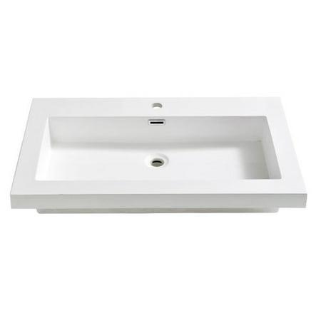 Fresca Medio Rectangular Drop-In Bathroom Sink with Overflow