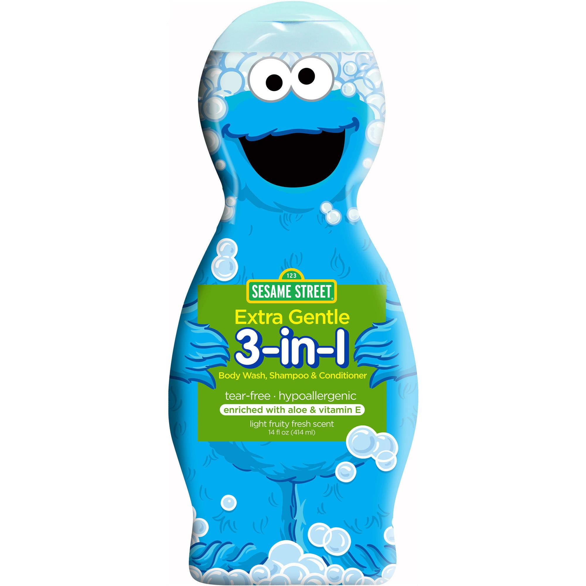 Sesame Street Extra Sensitive 3-in-1 Body Wash, Shampoo & Conditioner, 14 fl oz