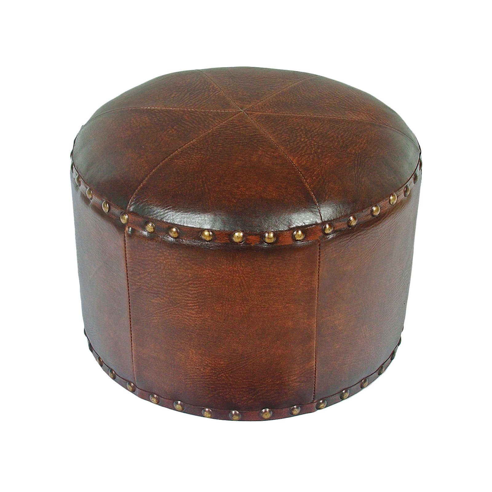 Istanbul Faux Leather Round Mini Stool