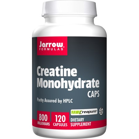 Jarrow Formulas Creatine Monohydrate Caps, Sports Nutrition, 800 mg, 120 Caps (Special Formula 120 Caps)