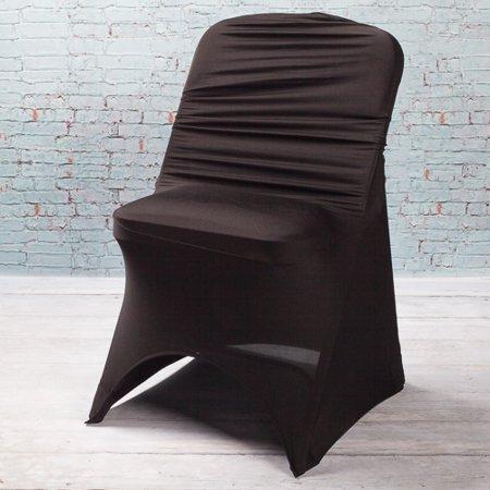 Richland Black Spandex Folding Chair Cover Walmart Com