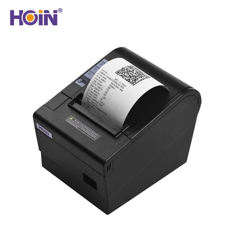 HOIN 80mm USB Thermal Receipt POS Printer Auto Cutter High Speed Printer Clear Printing Compatible with ESC/POS Print Commands