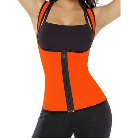 ee206542bb SAYFUT Womens Body Shaper Corset Vest Hot Sweat Neoprene Tank Top Tummy  Slimming Fat Burner Waist Trainer Shapewear Weight Loss Sauna Suit