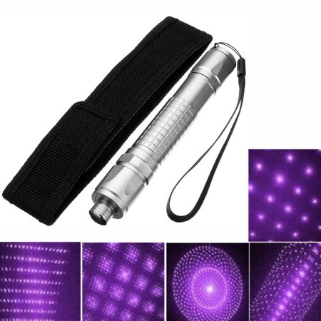 - 5mw Aluminum Laser Pointer Pen Beam Light Visible Astronomy Violet Purple with Black Cloth Cover