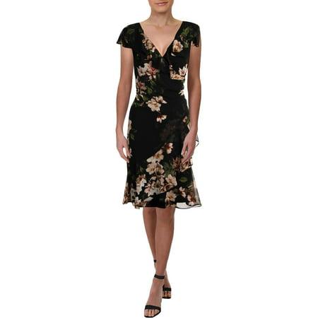 Lauren Ralph Lauren Womens Webby Knee-Length Floral Print Party