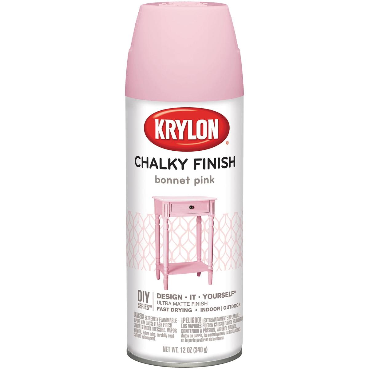 Chalky Finish Aerosol Spray Paint 12oz-Bonnet Pink