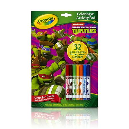 Crayola Teenage Mutant Ninja Turtles Coloring & Activity Pad With Markers