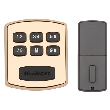 Kwikset 99050-002 Keyless Entry Polished Brass Touchpad