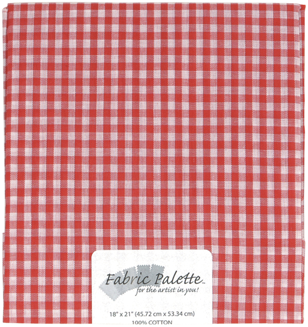 "Fabric Palette Precut 18""X21"" 1/Pkg-Red Gingham"