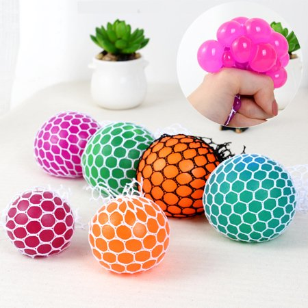 The Toy of The Year Funny Design Children Adult Anti Stress Relieve Decompression Squeeze Ball Toy RANDOM Color Deliver (Star Stress Ball)