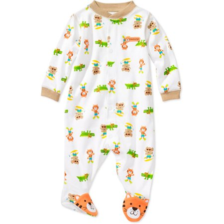 Child of Mine by Carter's - Newborn Boys' Tiger Sleep n' Play Bodysuit