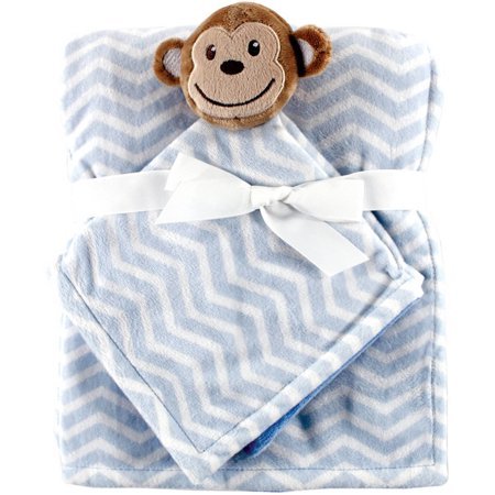 Hudson Baby Boy and Girl Plush Blanket and Security Blanket