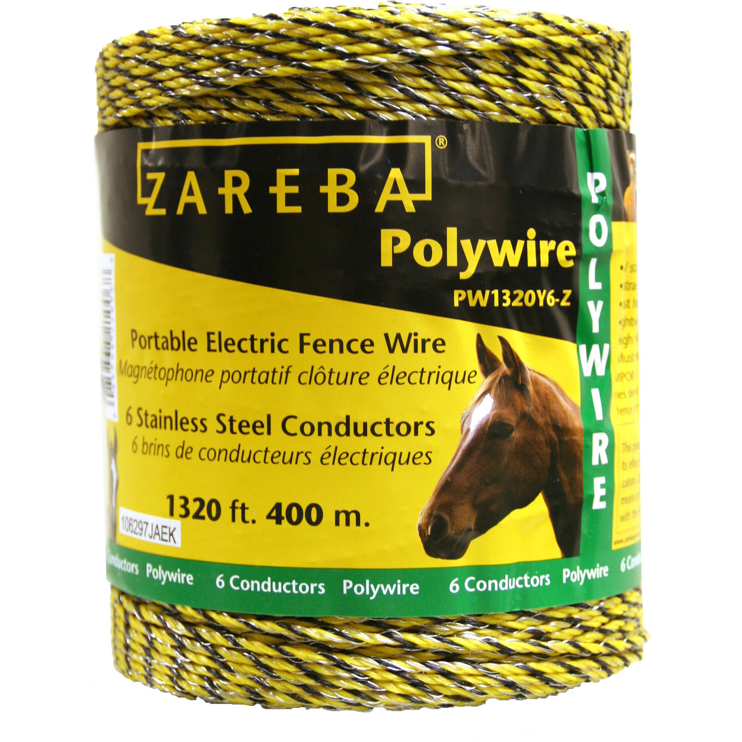 Zareba 1320 feet Polywire with 6 Conductors, 400 meters