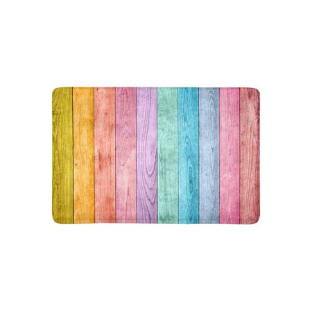 MKHERT Rainbow Colored Wood Doormat Rug Home Decor Floor Mat Bath Mat 23.6x15.7 (Rainbow Colored Wood)