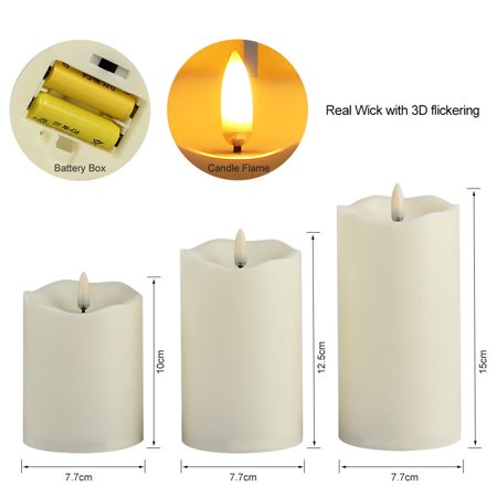 ELEOPTION Flameless Candle Light, 4