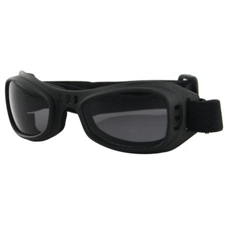 Bobster Eyewear Road Runner Goggles Black / Smoke Lens (Black, X-Small - Small)