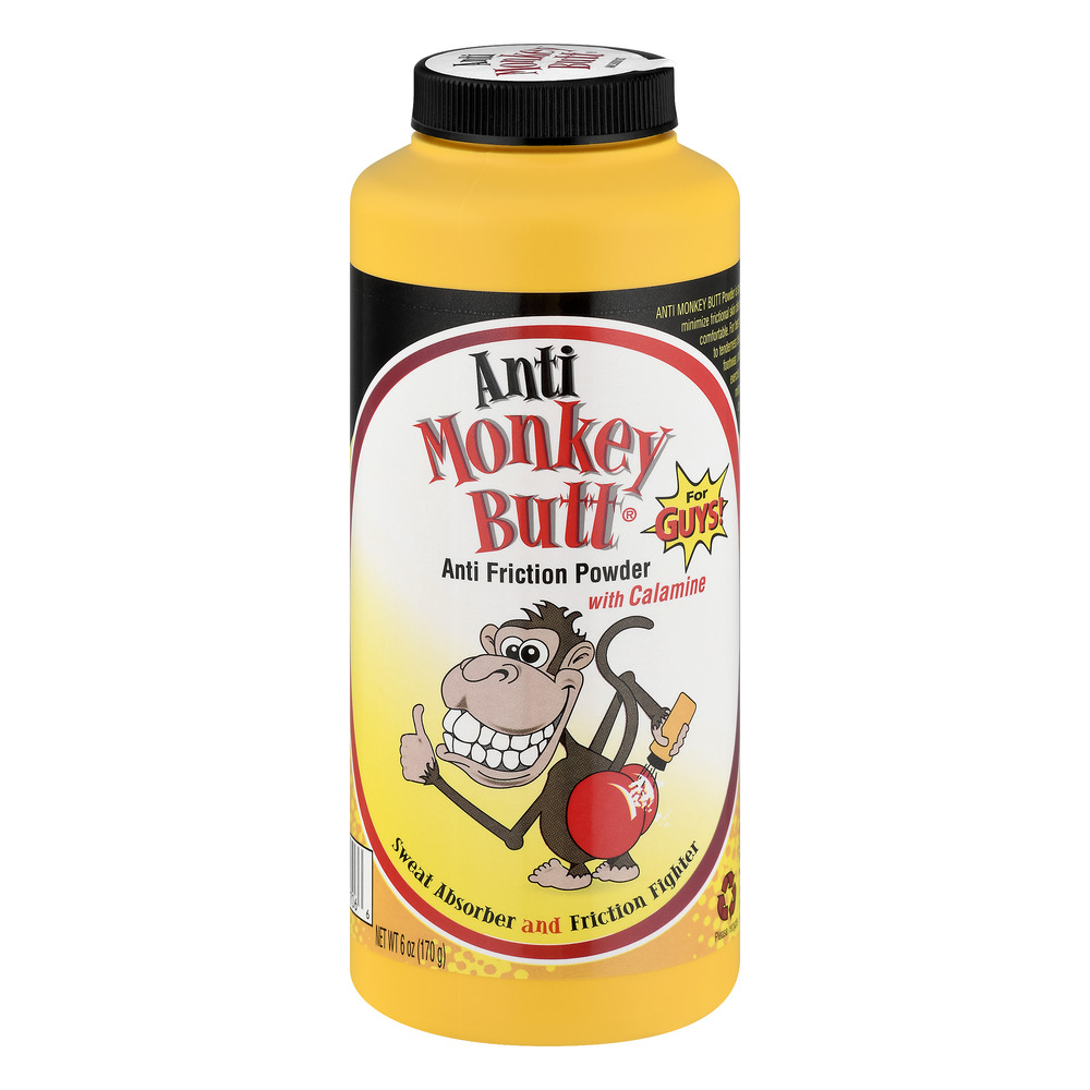 (2 Pack) Anti Monkey Butt Anti Friction Powder for Guys, 6.0 OZ