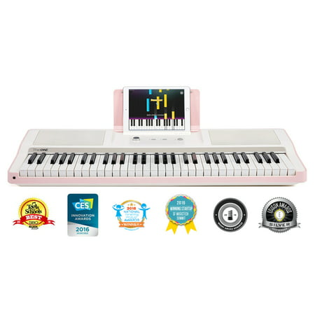 - The ONE Smart Piano - Light Keyboard, Pink