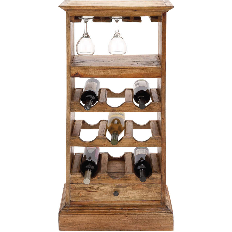 Decmode Wood Wine Cabinet, Brown by DecMode
