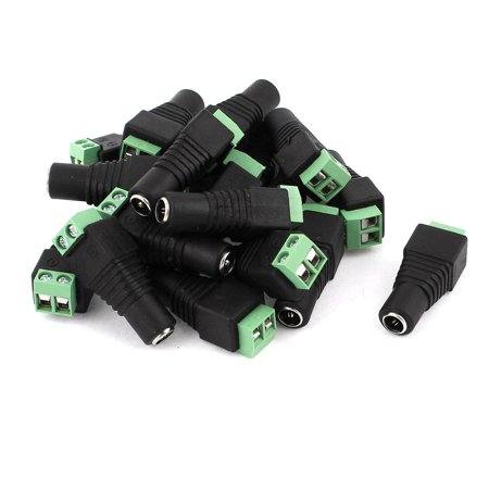 Unique Bargains 20 Pcs CCTV Camera 5.5x2.1mm DC Power Female Screw Terminal Block Connector