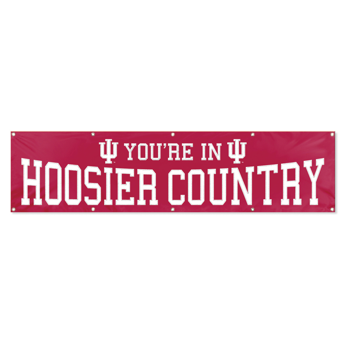 INDIANA HOOSIERS 8' WIDE OFFICIAL TAILGATE BANNER