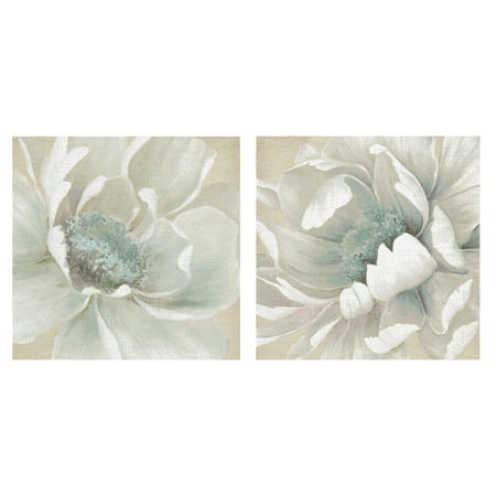 Winter Blooms I & II by Carol Robinson Wrapped Canvas Art Painting Print Set of -