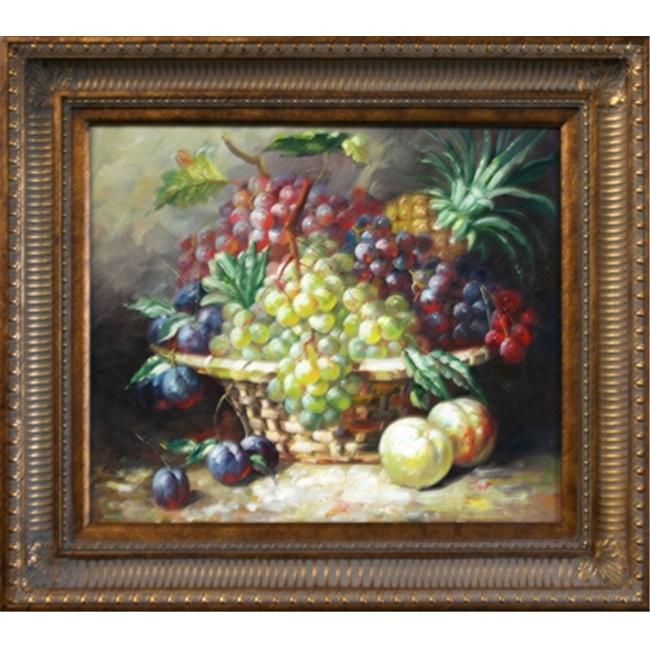 Artmasters Collection PA89601-655D Fruit Bowl II Framed Oil Painting