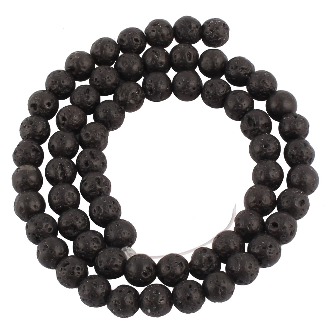 Lady Basalt Oval Shape Beads Multiaperture Necklace Black - image 2 of 2