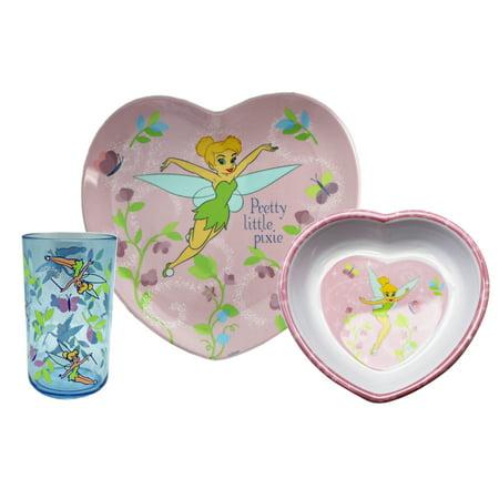 Disney's Tinker Bell Pretty Little Pixie Kids 3-Piece Dinnerware Set - Tinkerbell Makeup For Kids