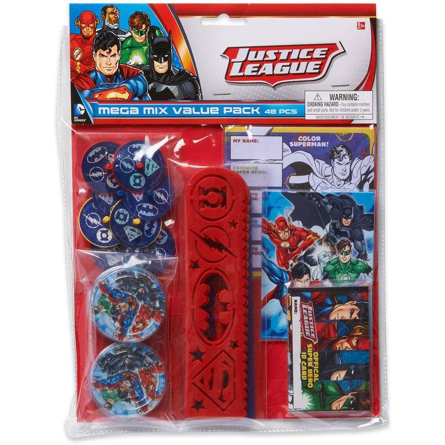 Justice League Party Favor Pack, Value Pack, Party Supplies
