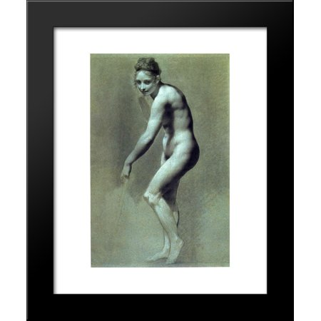 Drawing of Female Nude with charcoal and chalk 20x24 Framed Art Print by Prud... Drawing Nude Female Art