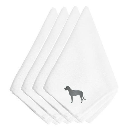 Irish Wolfhound Embroidered Napkins Set of 4 BB3403NPKE (Irish Napkins)