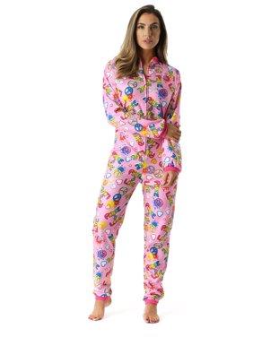 Just Love Printed Flannel Adult Onesie / Pajamas