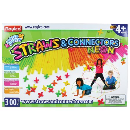 Straw Connectors (Straws and Connectors, Neon, 300-Piece)