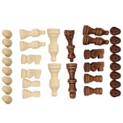 EOTVIA 32PCS Wooden International Chess Game Set Wood Pieces Without Chessboard Gift Interactive Toy, Wooden International Chess Game Set, International Chess
