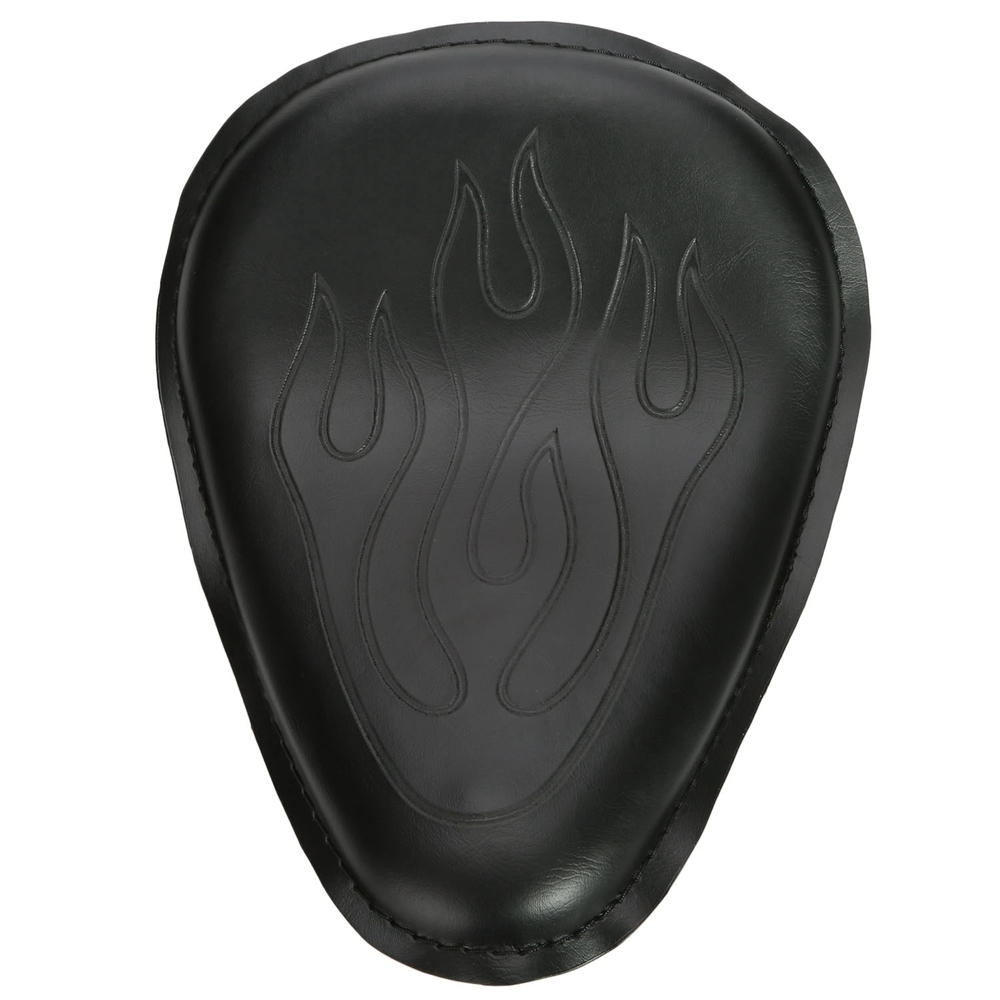 UTOVME Black Solo Leather Flame Seat Pad For Harley Sport...