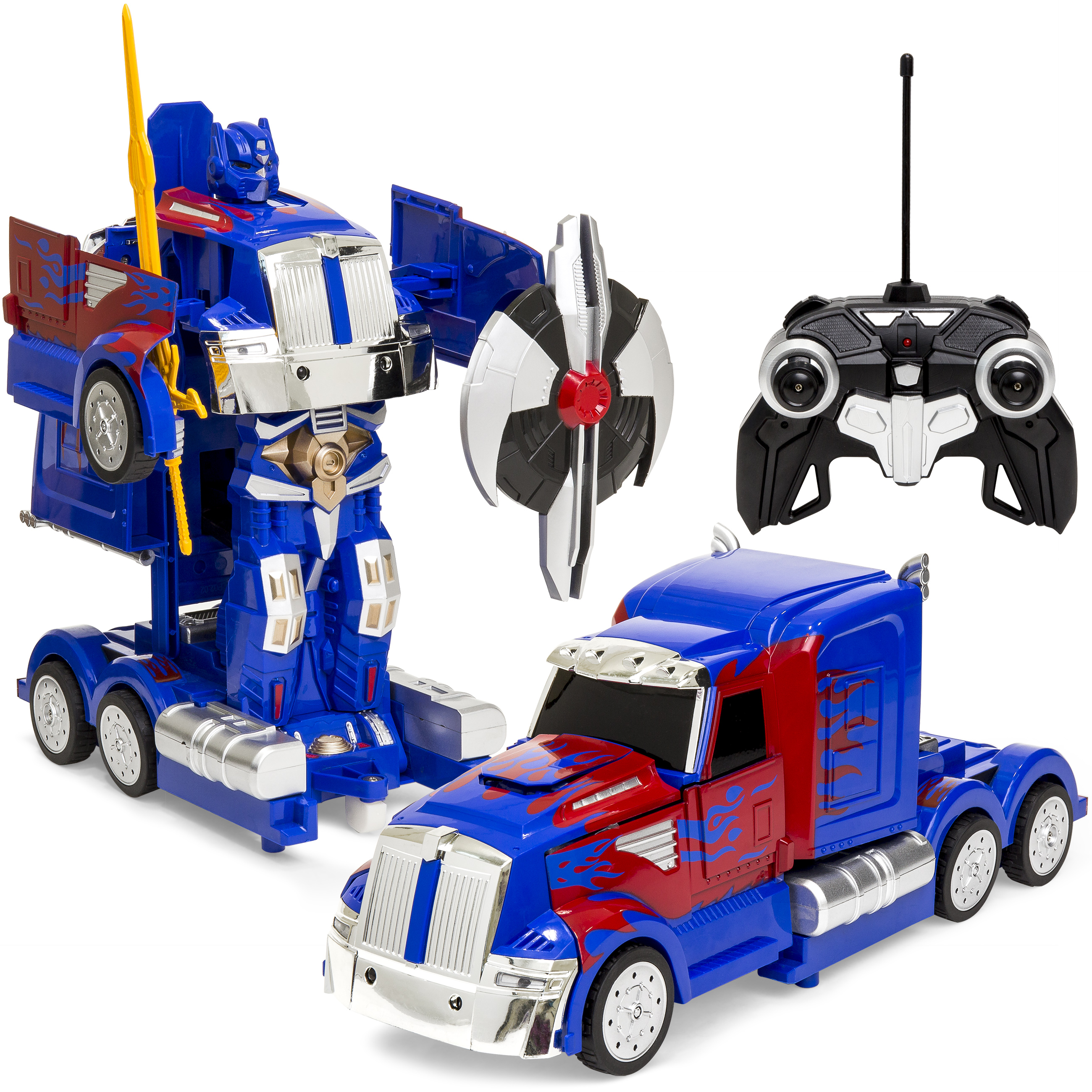 Best Choice Products 27MHz Kids Transforming RC Semi-Truck Robot Remote Control Toy w  2 Dance Modes, Music,... by Best Choice Products