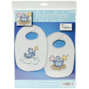 Tobin Stamped Cross-Stitch Kit, Balloon Ride Bibs, 2-Pack
