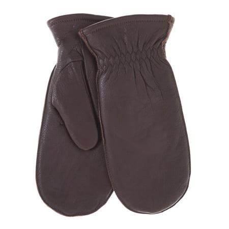 Pratt and Hart Women's Winter Deerskin Leather Mittens with Finger - Deerskin Mittens