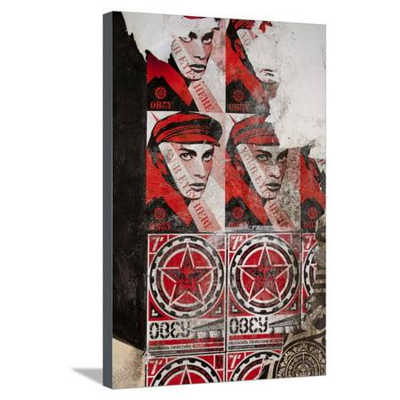 Shepard Fairey Art (Shepard Fairey Posters, Copenhagen, Denmark Stretched Canvas Print Wall Art )