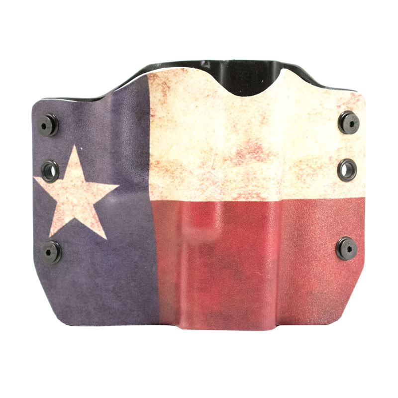 Outlaw Holsters: Texas Flag OWB Kydex Gun Holster for Glock 17,19,22,23,25,26,27,28,31,32,34,35,41, Right Handed. by Outlaw Holsters