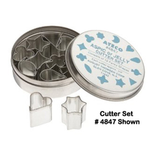 "Ateco Aspic/Jelly Cutters, 12 Piece Set 1/2"" (Tinned)"